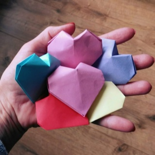 origami hartjes