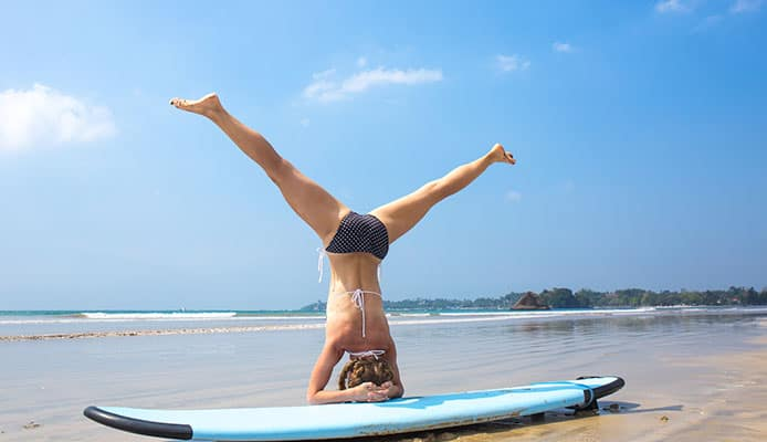 yoga surfplank
